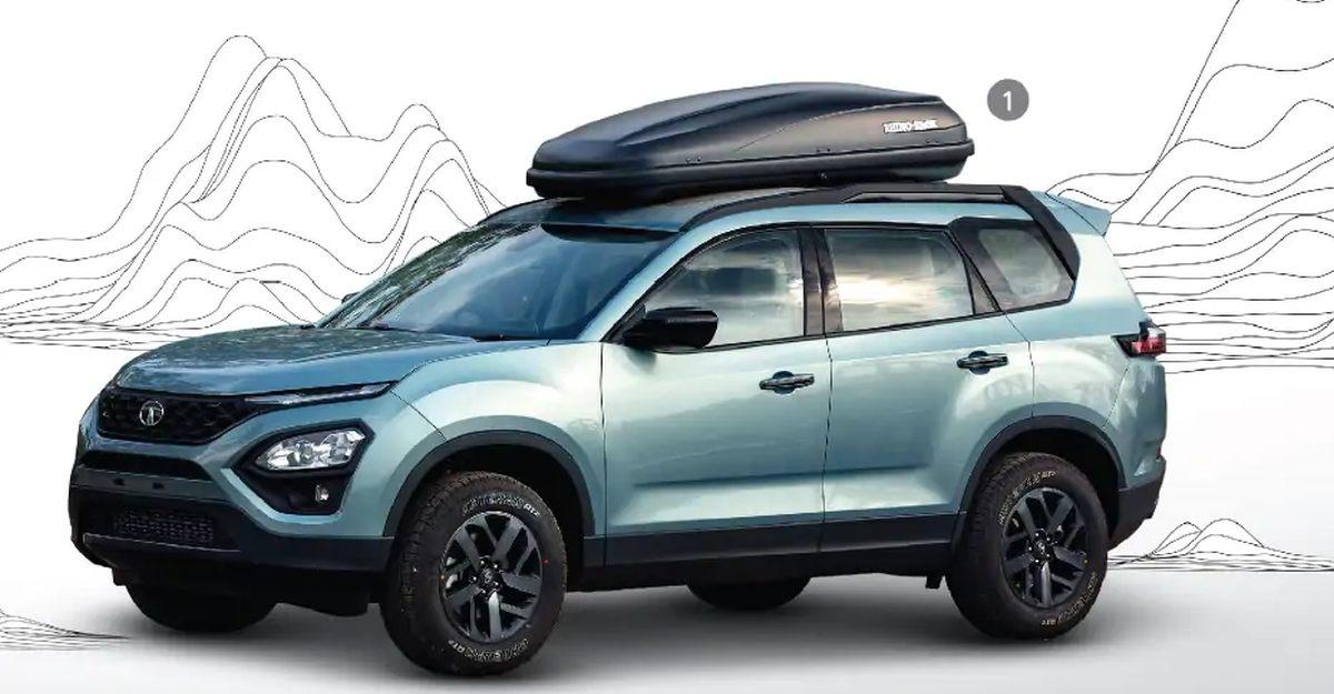 All-New Tata Safari SUV का एक्सेसरी पैक्स की रेंज मिलती है