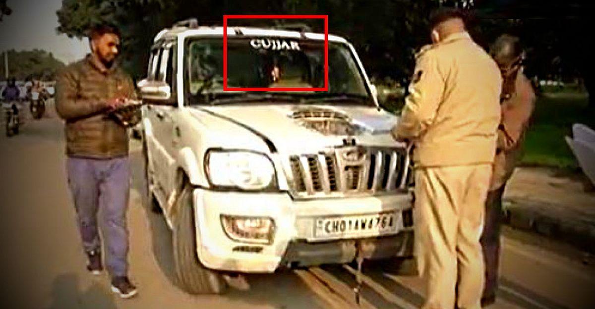 Gurugram Police ने जातिगत स्टिकर के साथ वाहनों पर नई कार्रवाई शुरू की