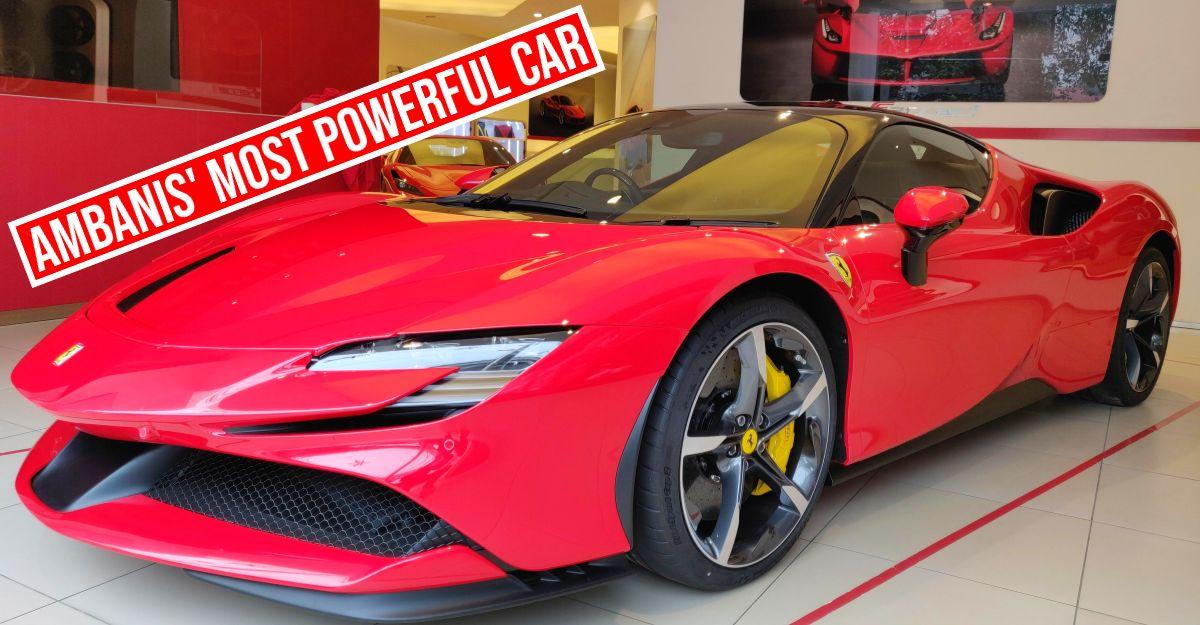 Ambani के 1,000 PS Ferrari SF90 स्ट्रैडेल सुपरकार पर करीब से नजर