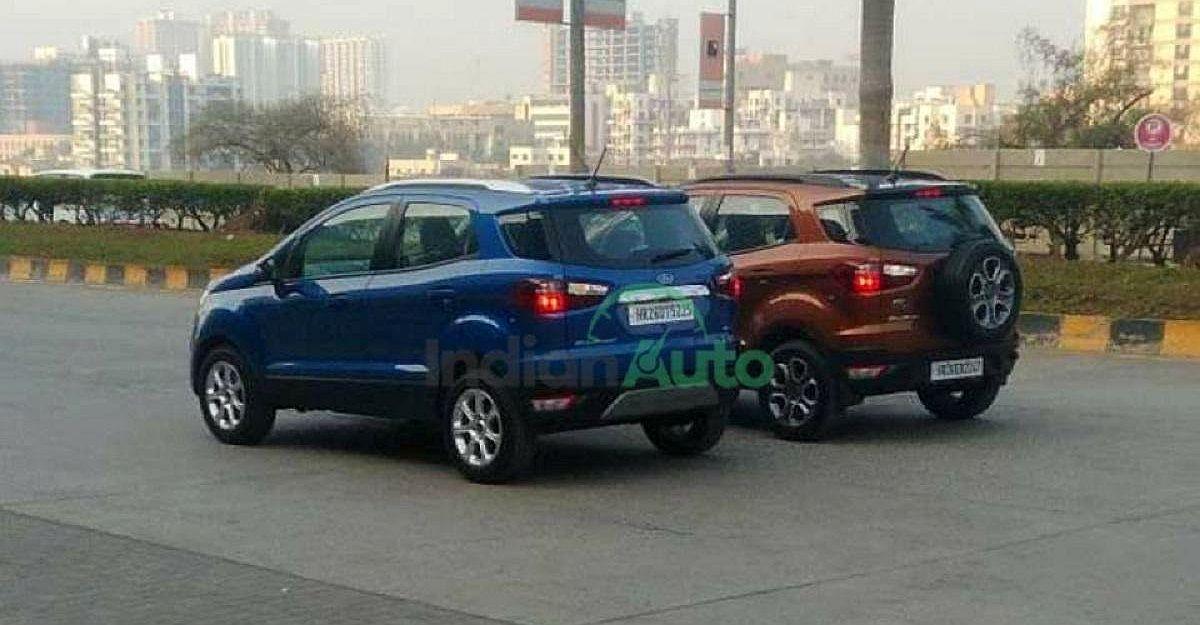 कम लागत वाली Ford Ecosport SE को Ecosport Titanium के साथ TVC शूट के दौरान स्पॉट किया गया