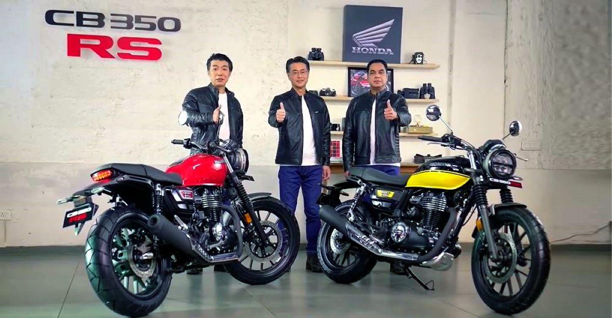 Honda CB350 RS 1.96 लाख Rs. में लॉन्च