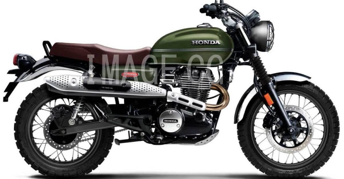 Honda CB350 H'ness based Scrambler: यह कैसा दिखेगा