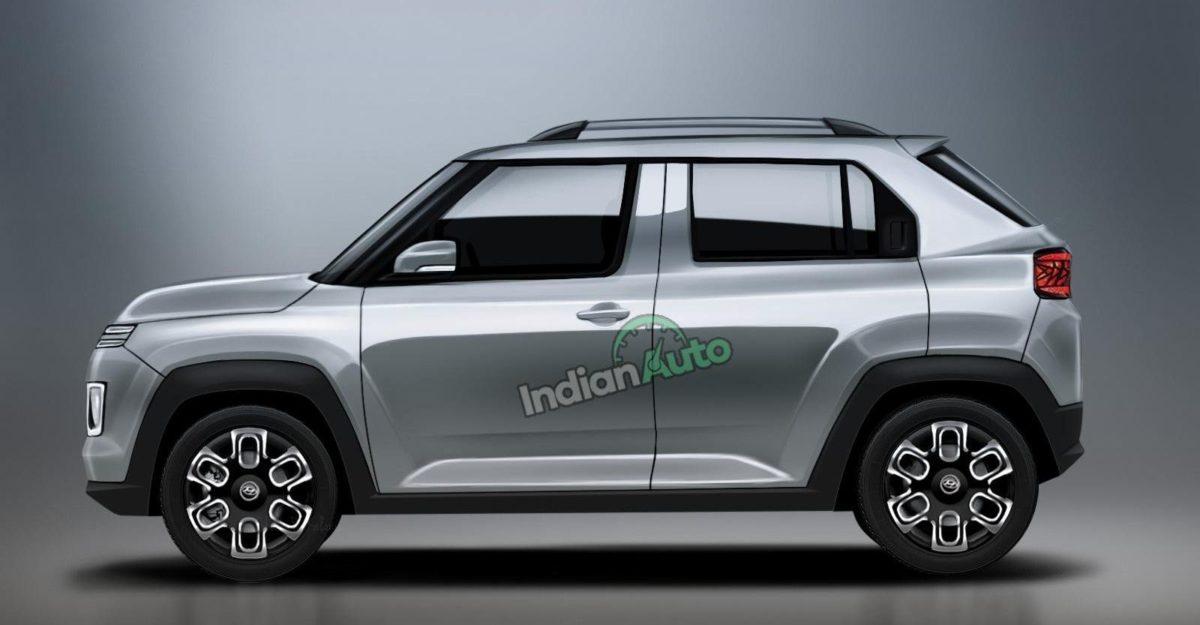Hyundai AX1 micro-SUV: नया प्रस्तुत साइड प्रोफाइल दिखाता है