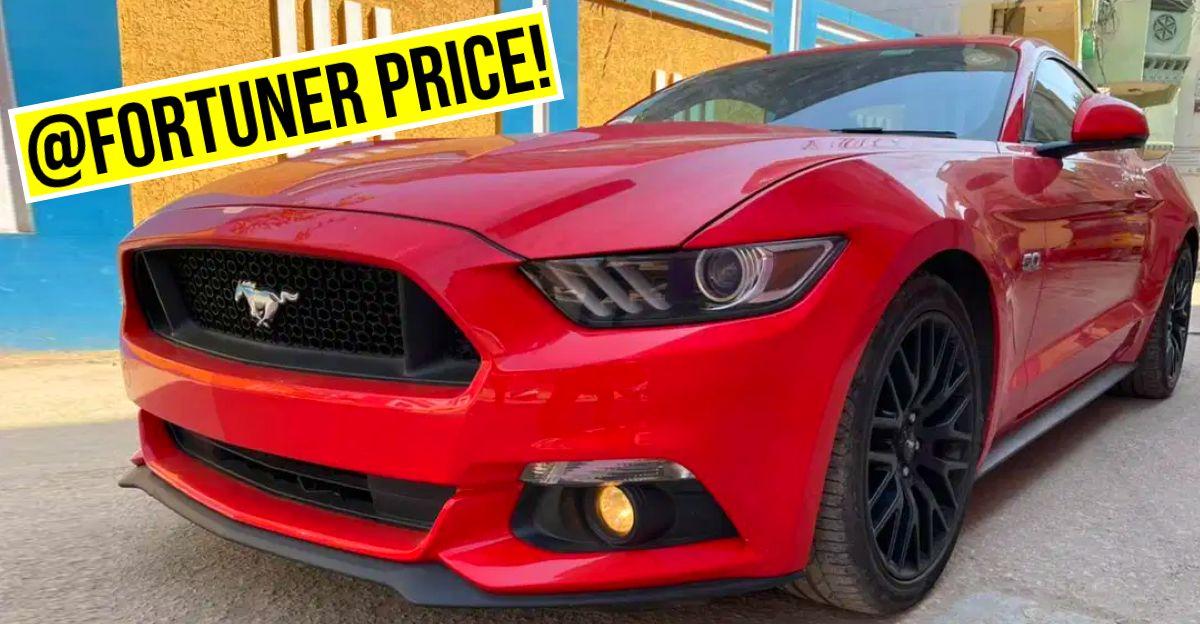 भारत का CHEAPEST Used Ford Mustang Toyota Fortuner की कीमतों पर बिक रहा है
