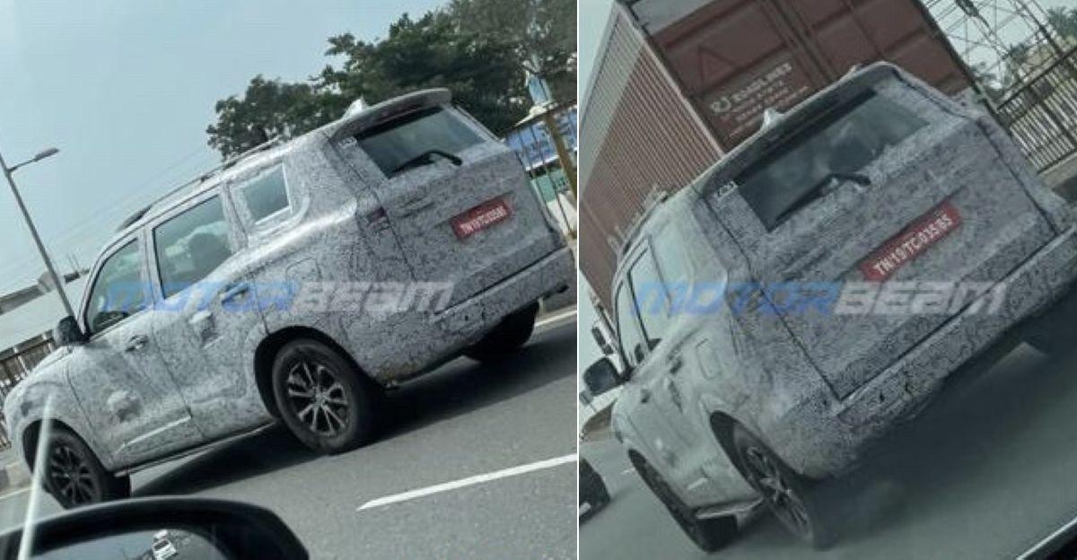 All-new 2021 Mahindra Scorpio Production-Ready ट्रिम कैमरे में कैद