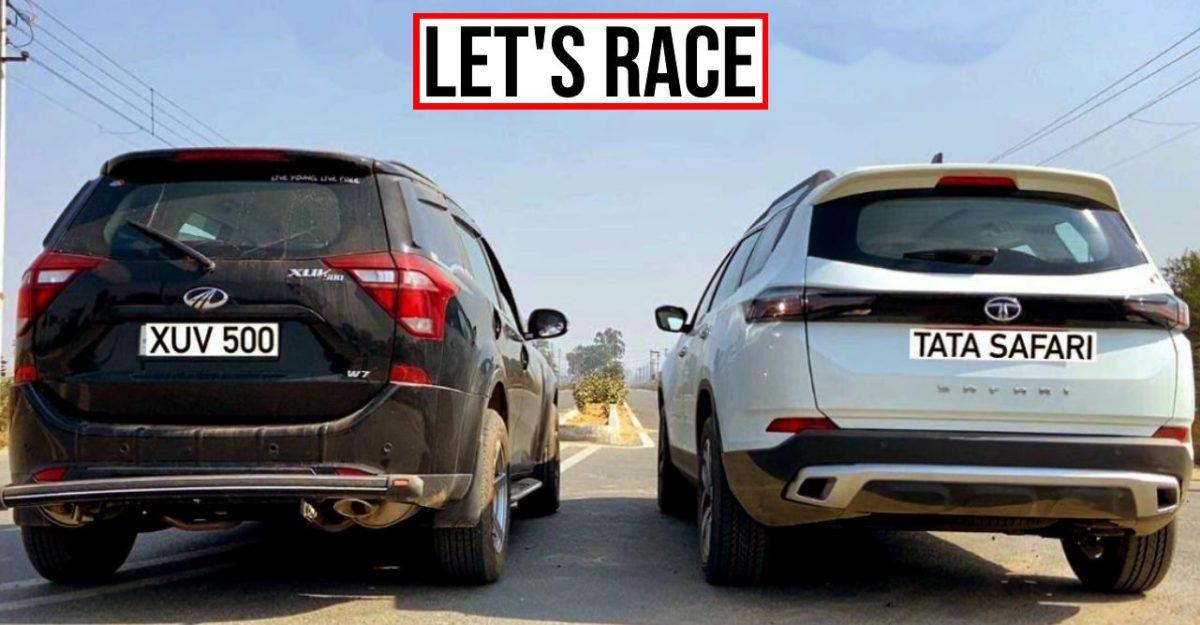All-new Tata Safari और Mahindra XUV500 एक ड्रैग रेस में: कौन जीतेगा?