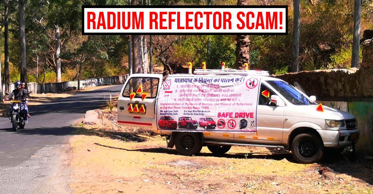 कार चालकों को 'अनिवार्य' रेडियम परावर्तक टेप खरीदने के लिए बाध्य करवाने वालो से सावधान रहें