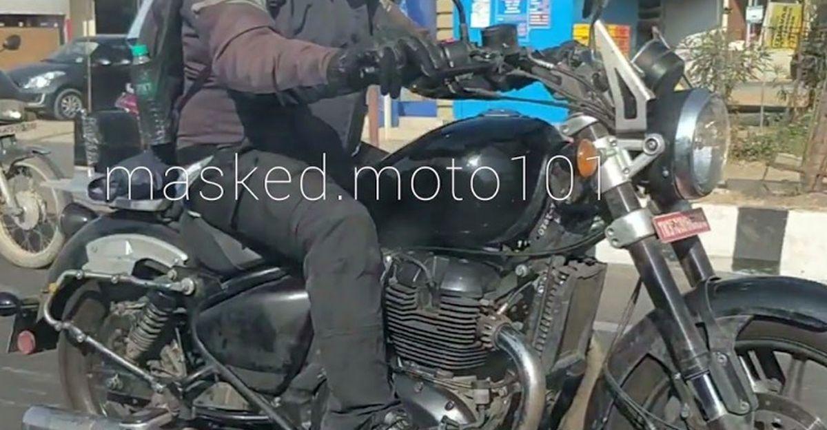 Royal Enfield KX 650 क्रूजर मोटरसाइकिल वीडियो में कैद [SPIED]