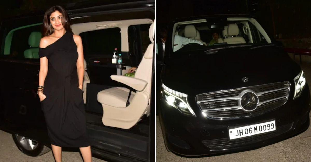 Shilpa Shetty ने 70 लाख कीमत की Mercedes-Benz V-Class लग्जरी MPV खरीदी