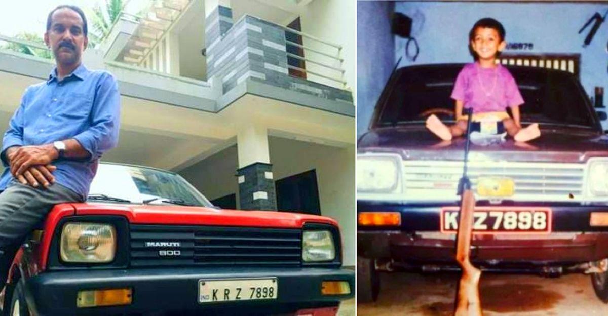 बेटा पिता की पहली Maruti 800 पाता है जो सालों पहले बेची गई थी: लंबे समय से खोई हुई कार गिफ्ट की