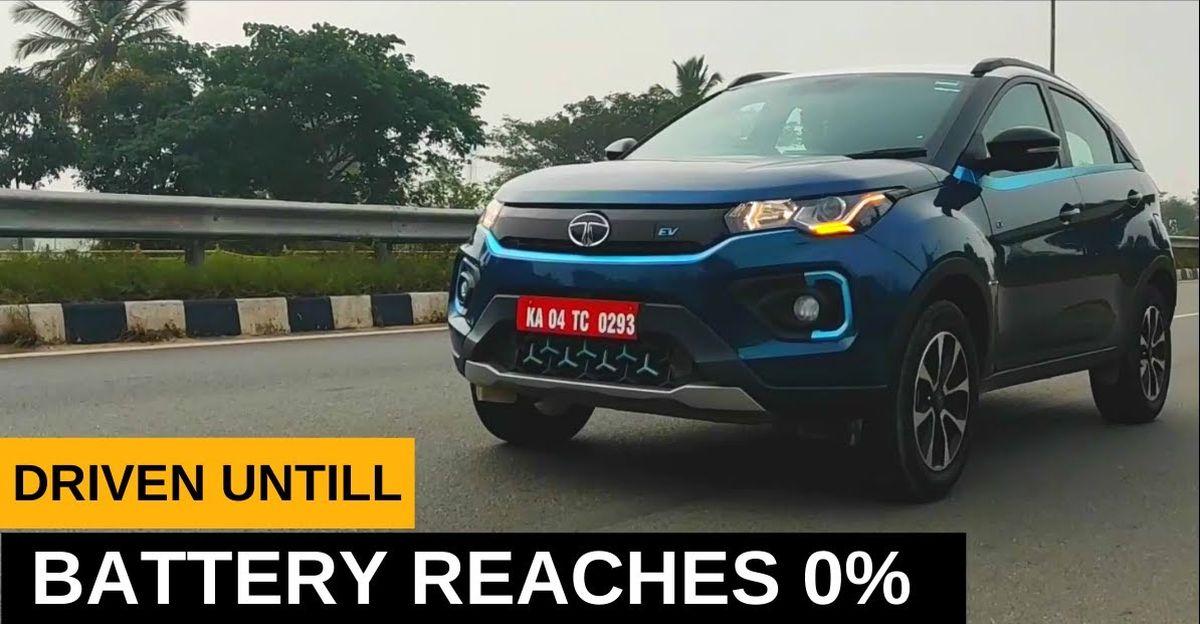 Tata Nexon Electric तब तक चलती है जब तक बैटरी 0% तक नहीं पहुँच जाती [Video]