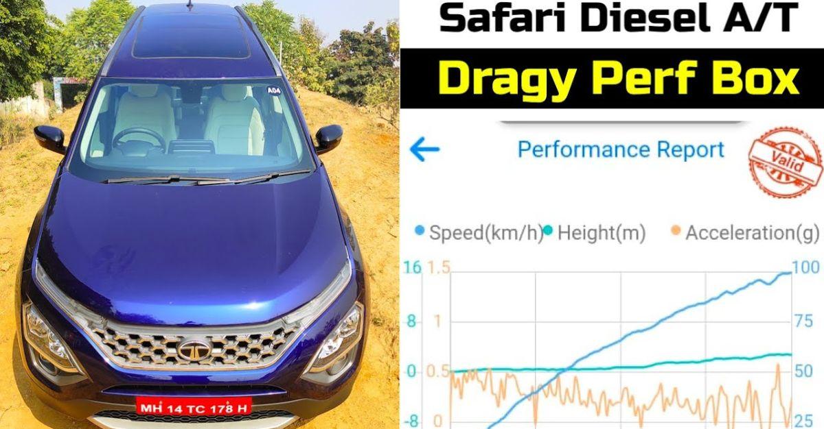 Tata Safari डीजल Automatic accurate 0-100 Kmph acceleration test में