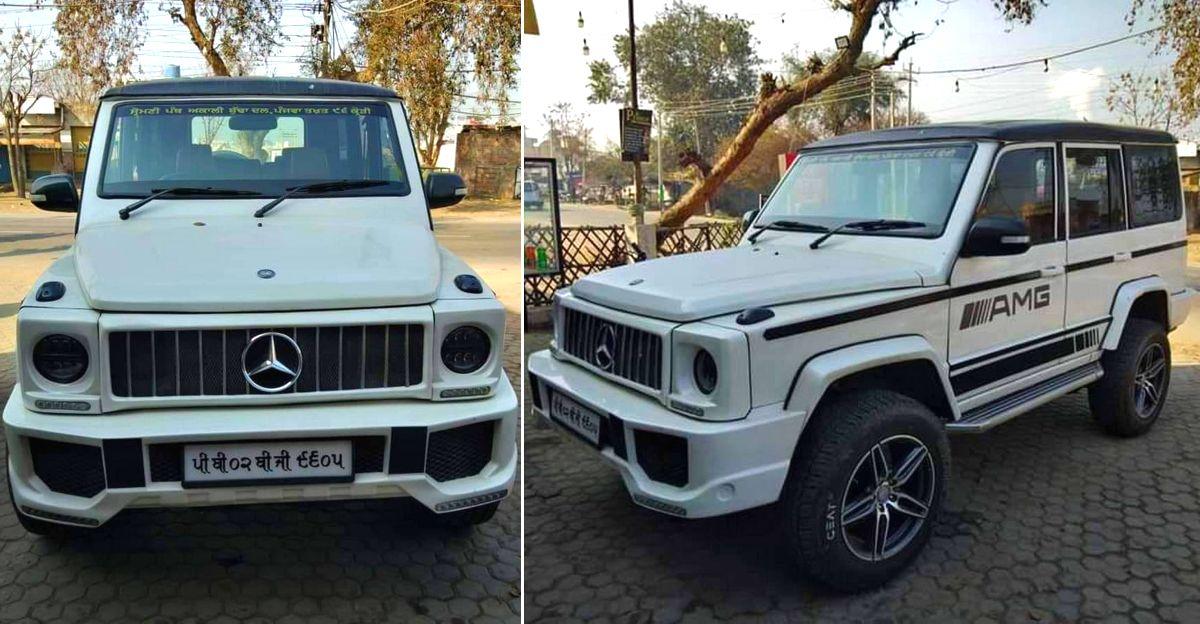 यह Mercedes-Benz G-Wagen वास्तव में एक Tata Sumo है