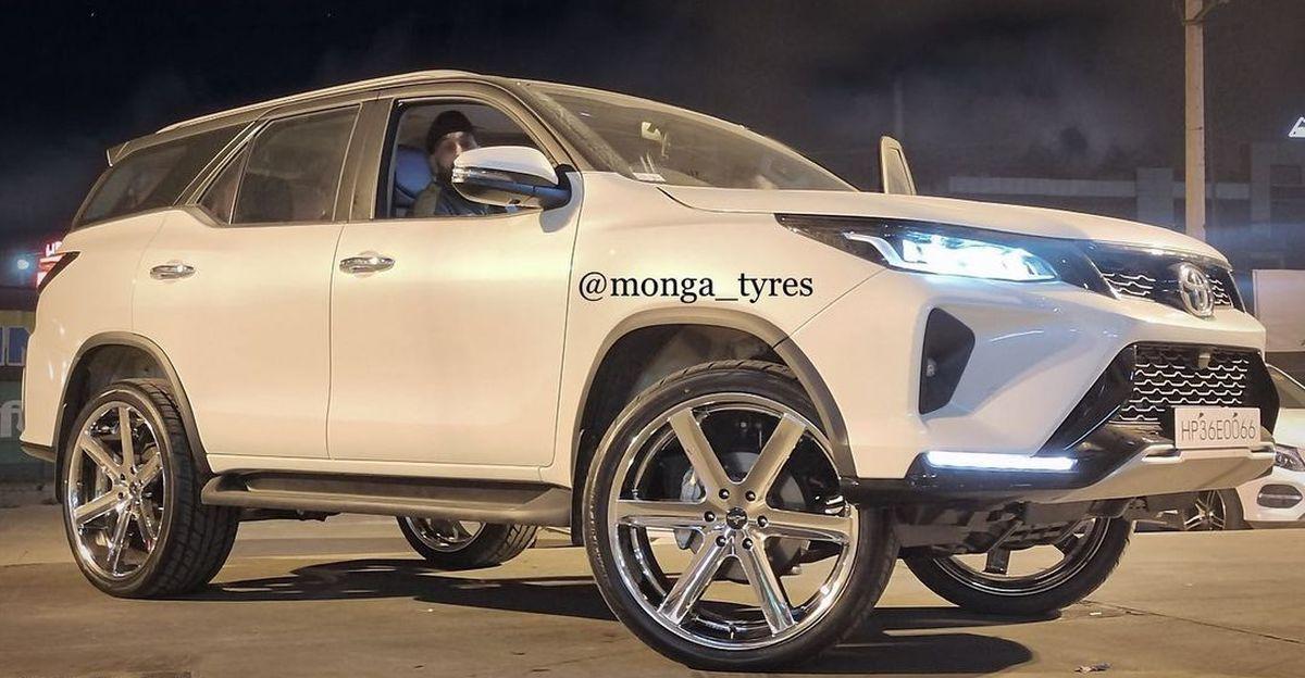 भारत का पहला संशोधित Toyota Fortuner Legender यहाँ है, और यह 24 इंच के पहियों पर सवारी करती है