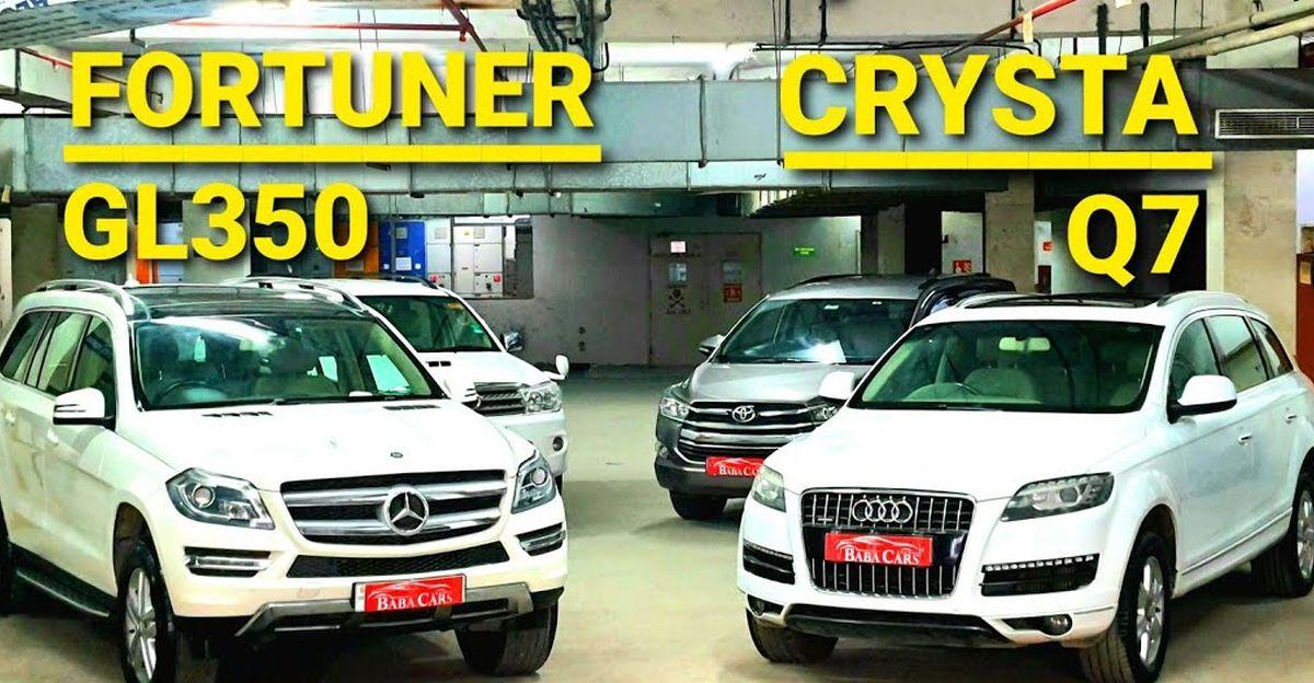 अच्छी तरह से रखा Toyota, Audi & Mercedes 7-seater SUV & MPV 8.75 लाख रुपये से शुरू