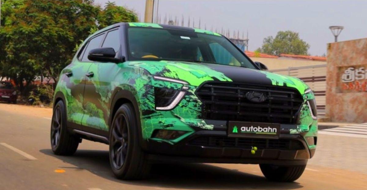 New Hyundai Creta ग्रीन मॉन्स्टर रैप के साथ और 12 लाख रुपये में संशोधन