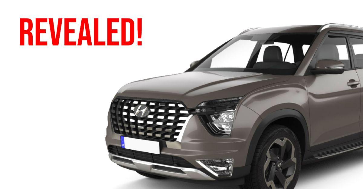 2021 Hyundai Alcazar 7 सीट एसयूवी 3D मॉडल के माध्यम से हर कोण में पता चला