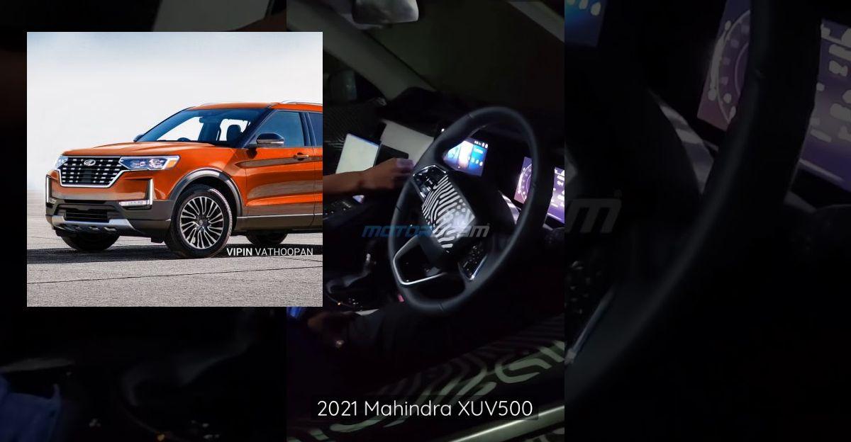 2021 Mahindra XUV500 के अंदरूनी हिस्से लॉन्चिंग से पहले Spied