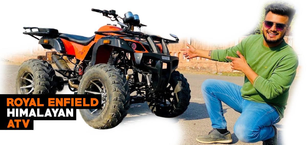 Royal Enfield Himalayans एक ATV में संशोधित किया गया