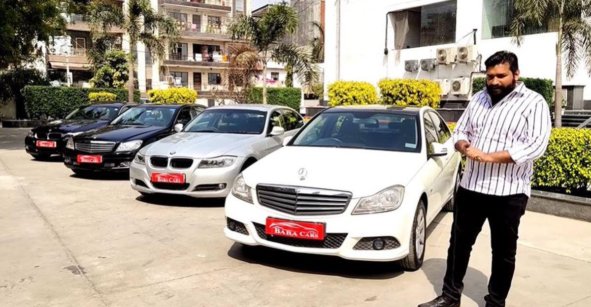 Well Maintained BMW & Mercedes लक्जरी सेडान 10 लाख रुपये में बिक रही है