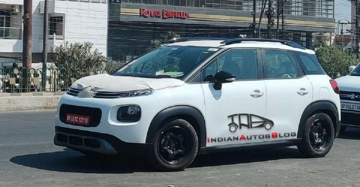 Citroen C3 Aircross कॉम्पैक्ट SUV बिना camouflage के भारतीय सड़कों पर कैमरे में कैद [SPIED]