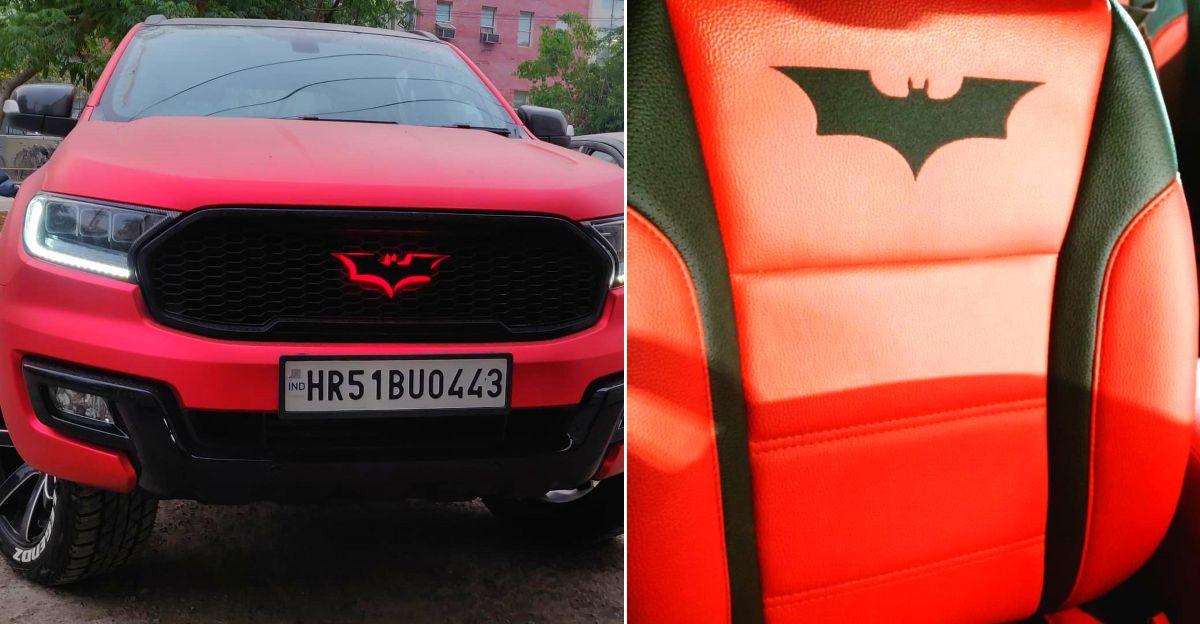 Batman theme मॉडिफाइड Ford Endeavour बीमार दिखता है