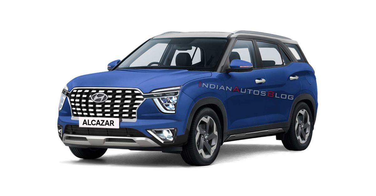 Creta के रंगों में Hyundai Alcazar: यह कैसा दिखेगा