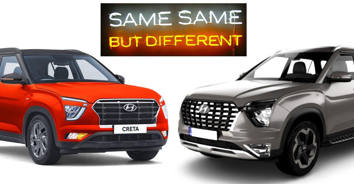 Hyundai Alcazar बनाम 2020 Creta: 7 प्रमुख बदलावों को समझे