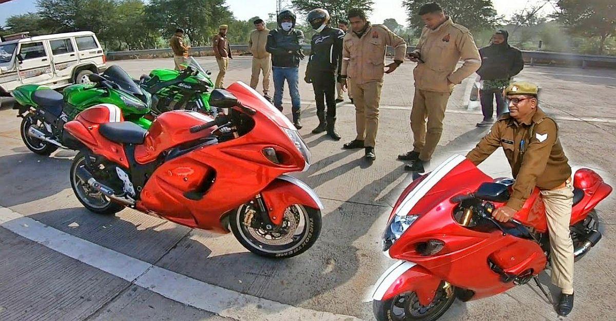 यहां तक कि भारतीय पुलिस को Suzuki Hayabusa प्यार है: प्रमाण