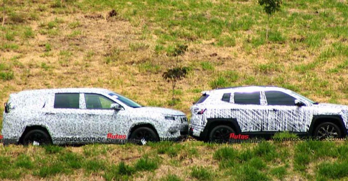 आगामी Jeep H6 7-सीट एसयूवी Compass और Renegade के साथ Spied