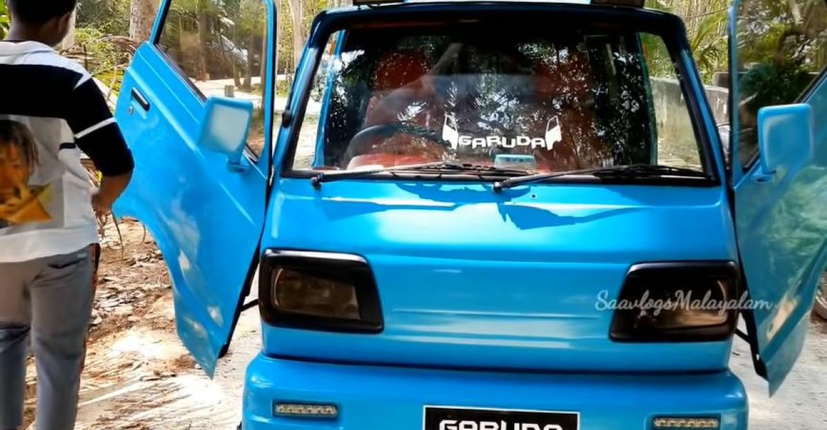 कैंची दरवाजे के साथ भारत की एकमात्र Maruti Suzuki Omni उतनी ही जंगली है जितनी इसे मिलती है