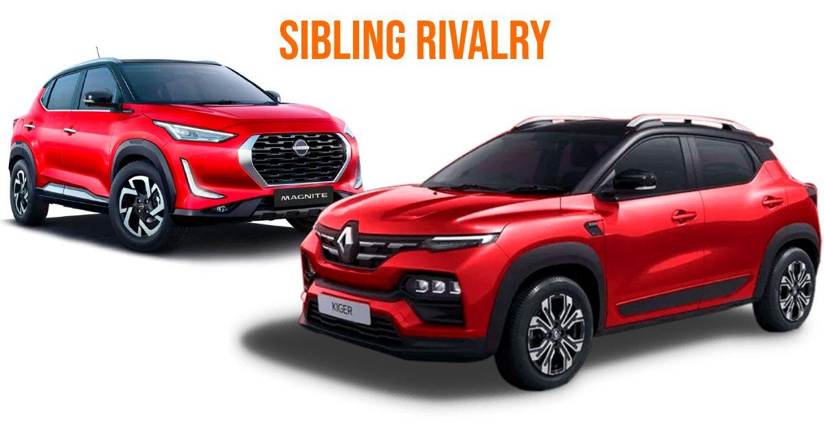 लॉन्च के पहले महीने में ही Renault Kiger ने Nissan Magnite को Outsell कर दिया