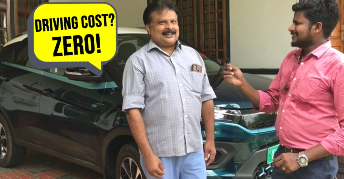 Tata Nexon EV के मालिक बताते हैं कि कैसे वह अपनी इलेक्ट्रिक SUV को रिचार्ज करने के लिए सोलर पावर का इस्तेमाल करता है