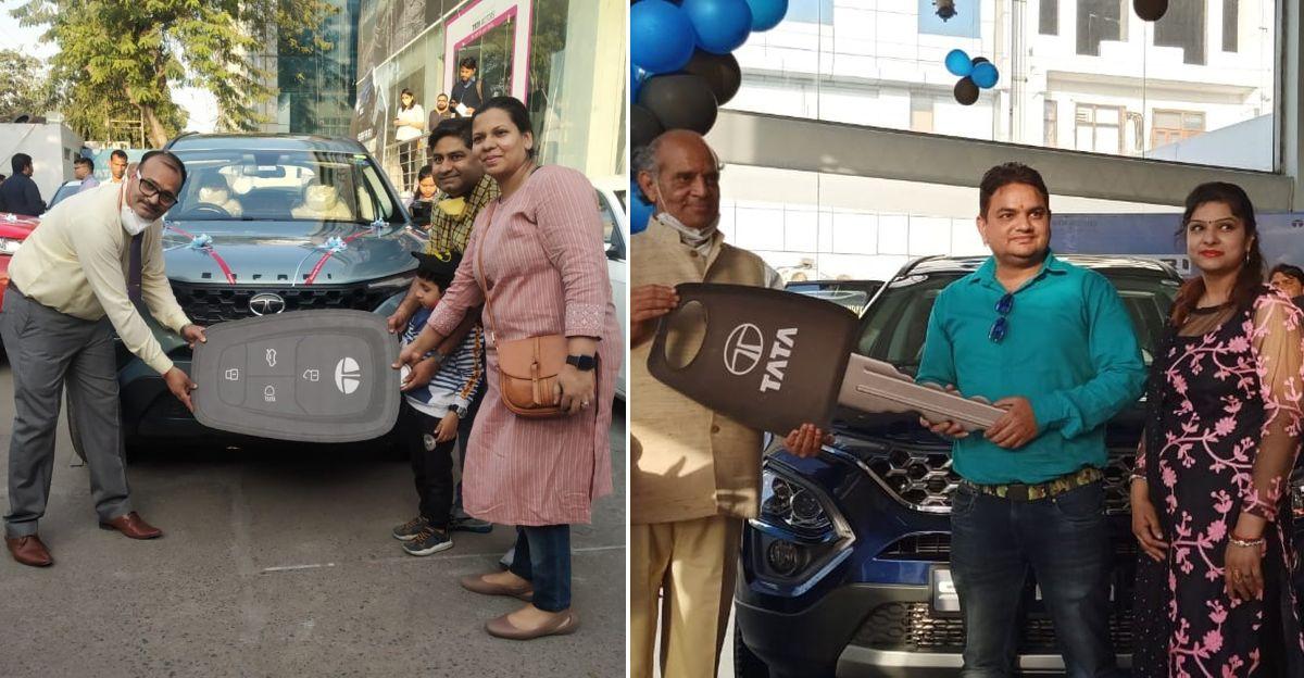 Tata Motors दिल्ली NCR में एक ही दिन में All-New Safaris की 100 यूनिट की डिलीवरी की