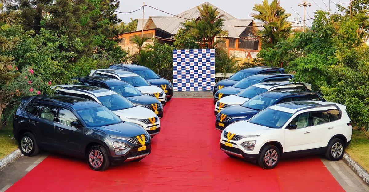 All New Tata Safari: एक ही समय में 10 नए SUV वितरित किया गया