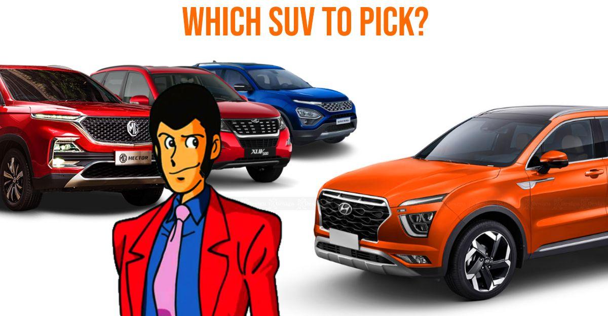 Hyundai Alcazar बनाम Mahindra XUV500 Vs Tata Safari Vs MG Hector Plus: आपको कौन सी SUV खरीदनी चाहिए?
