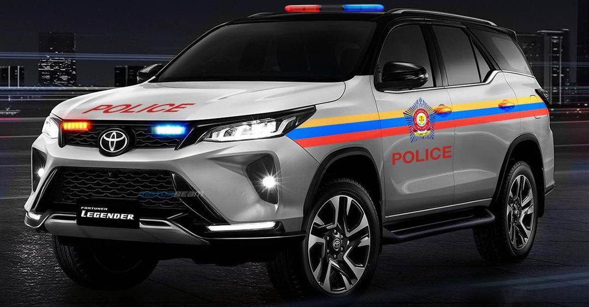 बिलकुल नए Toyota Fortuner Legender को पुलिस कार के रूप में फिर से मिलाया गया