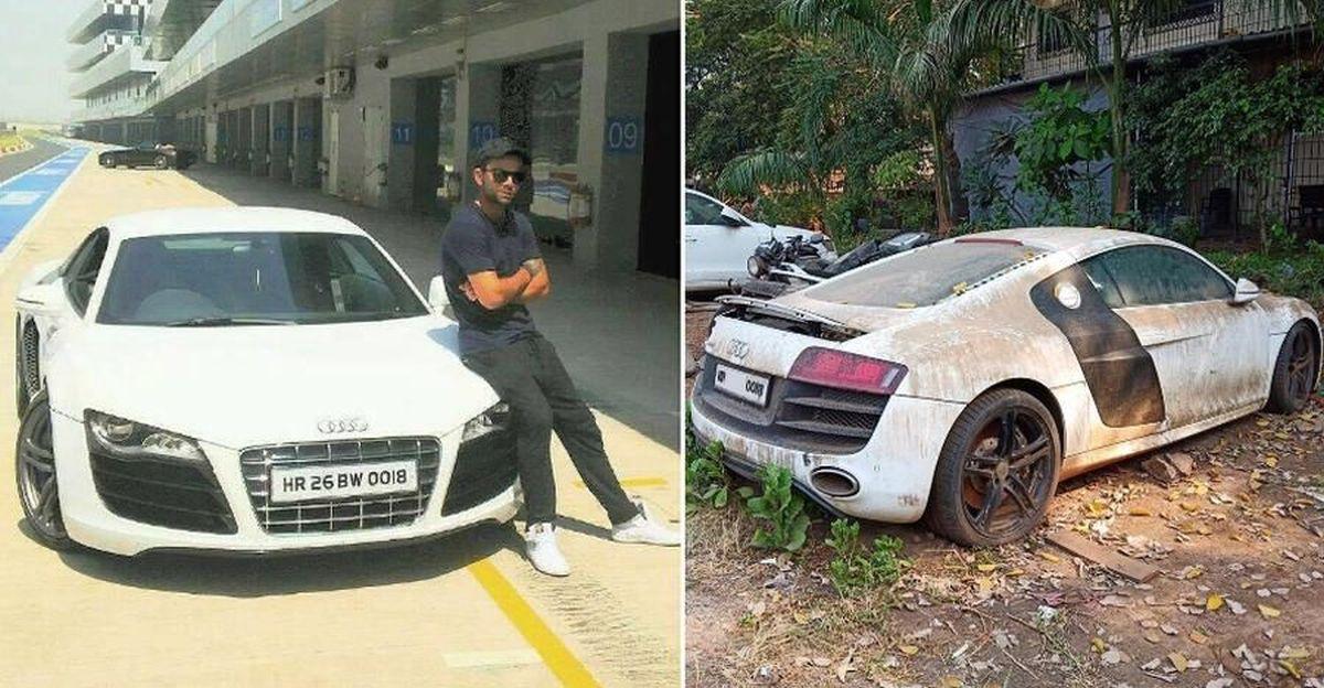 Virat Kohli के स्वामित्व वाली मल्टी-करोड़ की Audi R8 सुपरकार अब सड़ने के लिए छोड़ दी गई