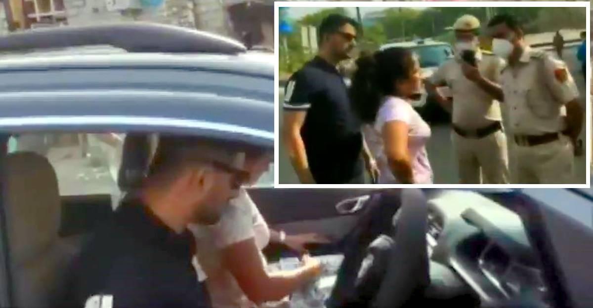 मास्क नहीं पहनने के लिए रोकने के बाद पुलिसकर्मी और Couple की लड़ाई : आदमी गिरफ्तार