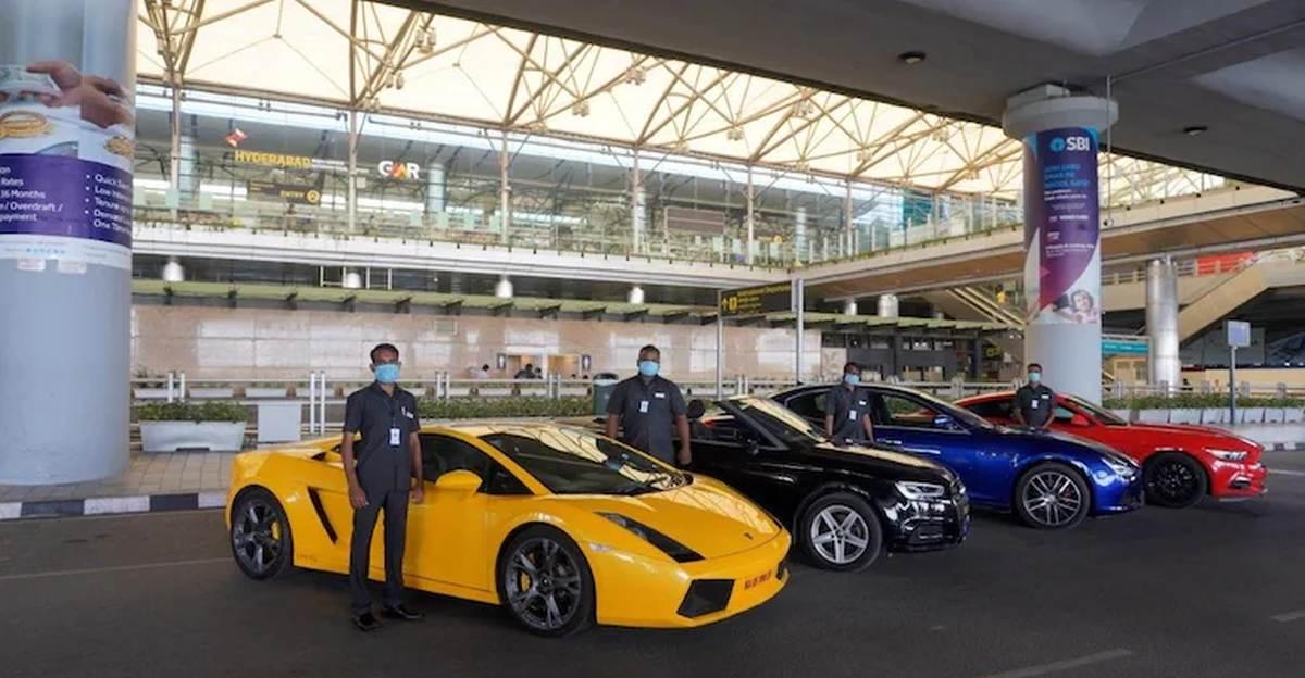 हैदराबाद हवाई अड्डा अब Lamborghini , Mustang & अन्य सुपरकार किराये की कारों के रूप में प्रदान करता है