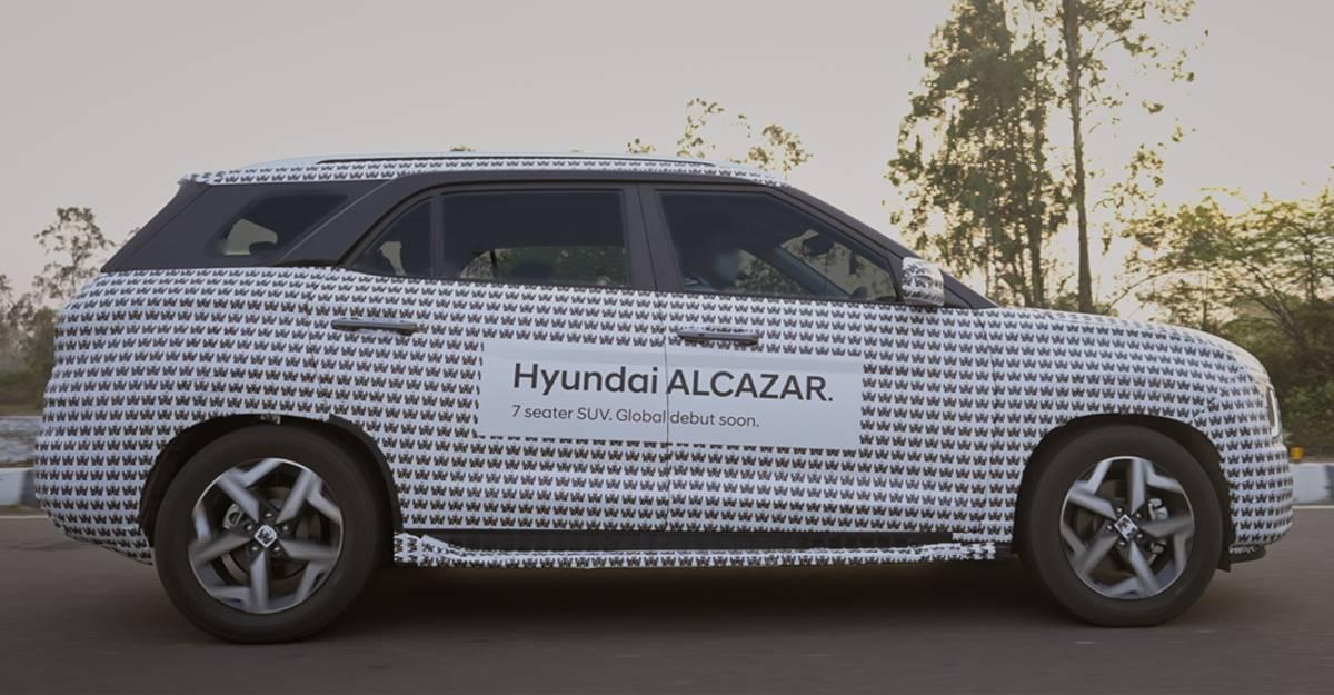Hyundai Alcazar 7 सीट SUV का परीक्षण समाप्ती की तरफ: लॉन्च से कुछ ही दूर