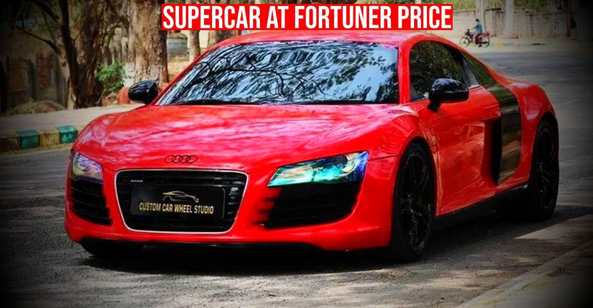 2 Audi R8 सुपरकार एक Fortuner की तुलना में सस्ता है