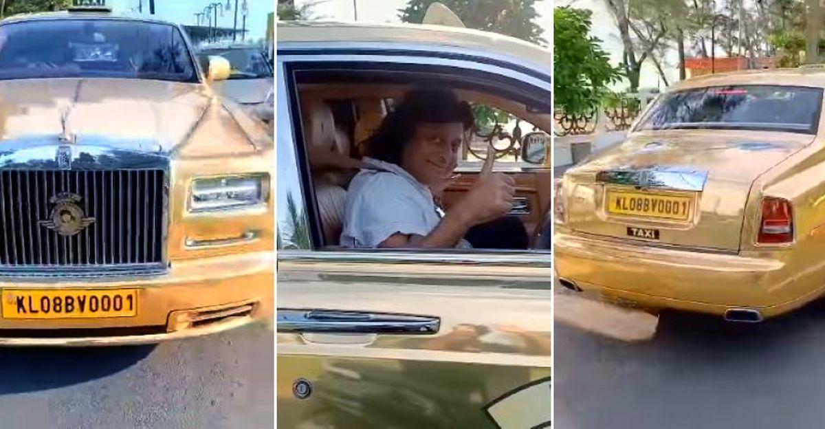 भारत की पहली और एकमात्र गोल्डन Rolls Royce टैक्सी चलाने वाले अरबपति