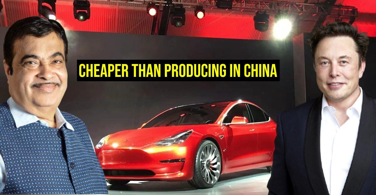 मंत्री Nitin Gadkari Tesla से: भारत में विनिर्माण इलेक्ट्रिक कारें आपके लिए फायदेमंद हैं