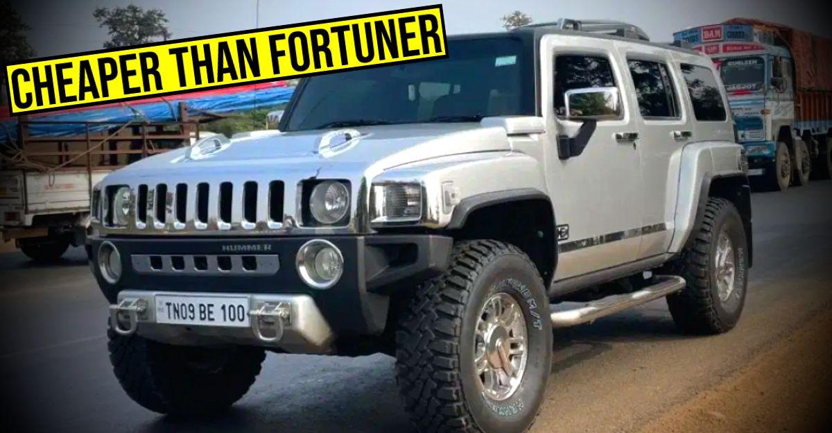 Toyota Fortuner की तुलना में सस्ते में बिकने वाली Used Hummer H3