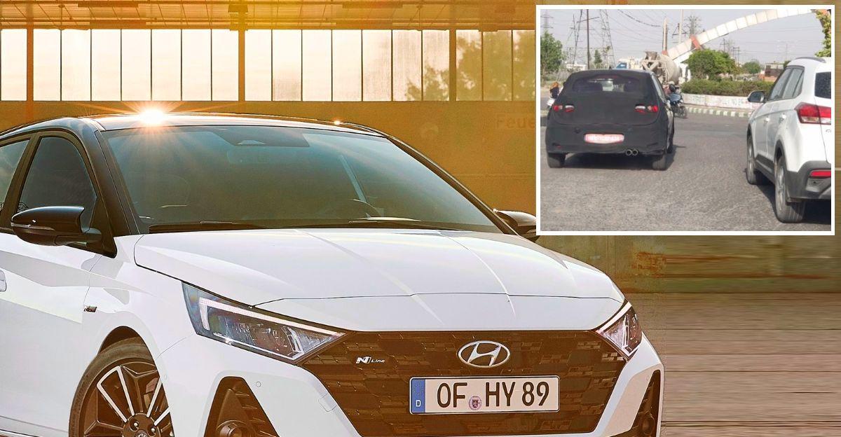 भारतीय सड़कों पर एक बार फिर Hyundai i20 N लाइन स्पॉट हुई