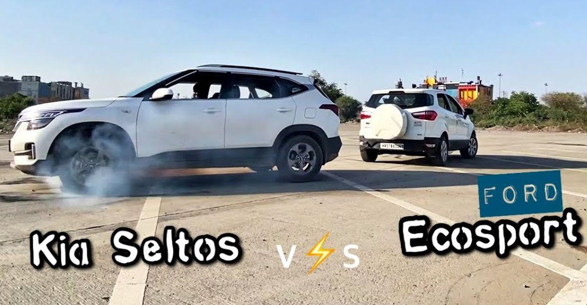 Kia Seltos बनाम Ford EcoSport एक रस्साकशी में