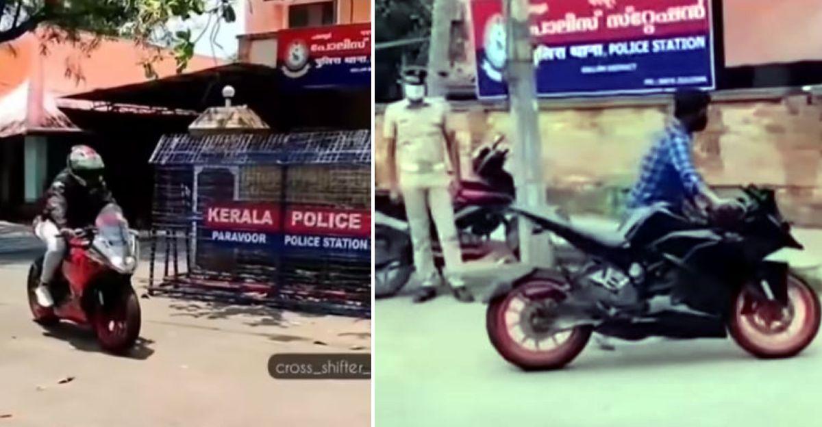 पुलिस स्टेशन के सामने स्टंट करने के लिए KTM राइडर का लाइसेंस निलंबित: Bike को फिर से सील