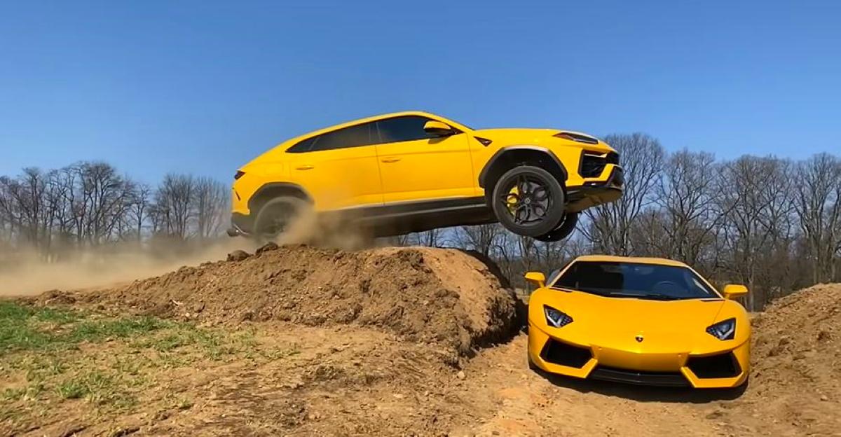 YouTuber ने एक Aventador सुपरकार पर Lamborghini Urus को टक्कर दी
