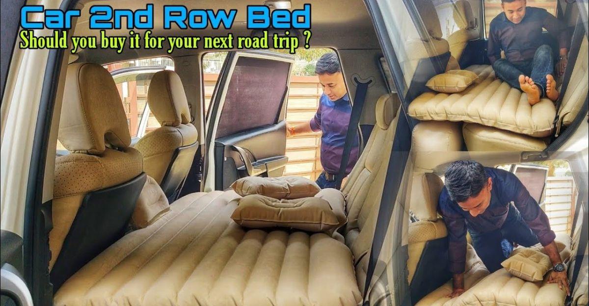 क्या यह inflatable बिस्तर Mahindra XUV500 की रियर सीट को बिस्तर में बदल सकता है?